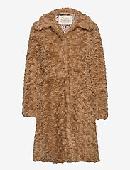 ODD MOLLY - Amandine Long Jacket - faux fur - soft taupe - 1