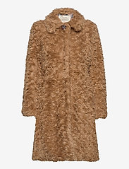 ODD MOLLY - Amandine Long Jacket - faux fur - soft taupe - 2