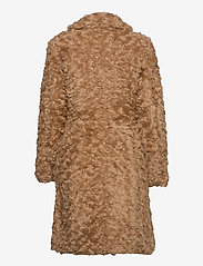 ODD MOLLY - Amandine Long Jacket - faux fur - soft taupe - 3