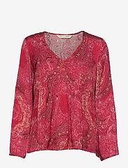 ODD MOLLY - Amélie Blouse - langærmede bluser - red elderberry - 1