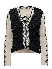 gaucho cardigan - ALMOST BLACK