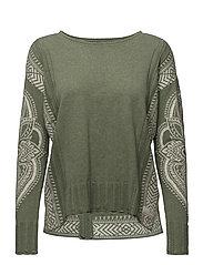 shepherd sweater - MID GREEN