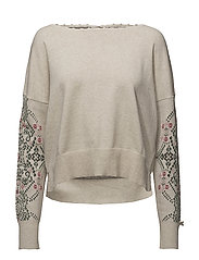 whirley sweater - CHALK