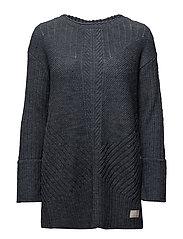retreat long sweater - MISTY BLUE