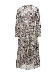 triumph long dress - OFFWHITE