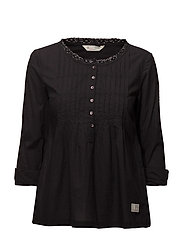 sensation blouse - ALMOST BLACK