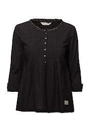 sensation blouse - ALMOST BLACK