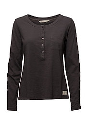 charming l/s top - ASPHALT
