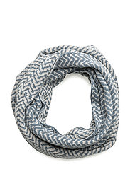 lovely tube scarf - MISTY BLUE