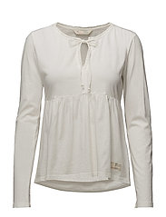 tempting l/s top - LIGHT CHALK
