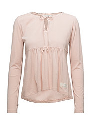 tempting l/s top - PEACH POWDER