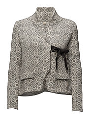 lovely knit jacket - LIGHT GREY MELANGE