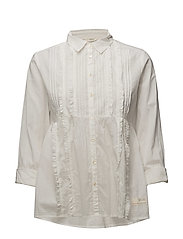 revival blouse - LIGHT CHALK