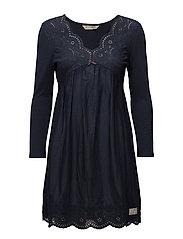 blossom dress - DARK BLUE