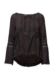 midnight l/s blouse - ASPHALT