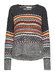 noisy rainbow sweater - MULTI