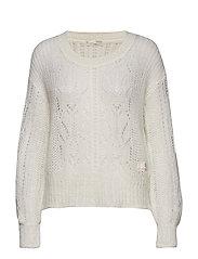 mystery fields sweater - LIGHT CHALK