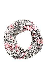 vivid vibration scarf - CHALK