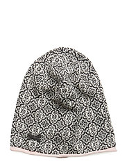treasure tile beanie - ALMOST BLACK