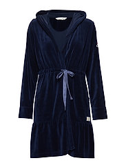 early riser bathrobe - DEEP COBOLT