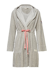 early riser bathrobe - MID GREY MELANGE