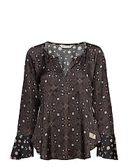 unsilent night blouse - ALMOST BLACK