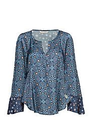 unsilent night blouse - TRUE BLUE