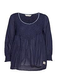sway blouse - DARK BLUE