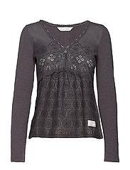 circular blouse - CHARCOAL