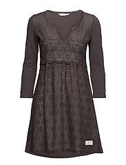 circular dress - CHARCOAL