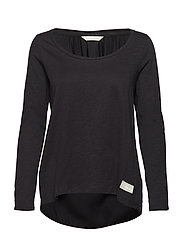 come run with me l/s top - ALMOST BLACK