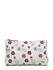 daisy manifest beauty bag - LIGHT CHALK