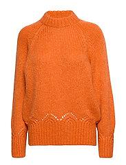 Novelty Sweater - SUNSET ORANGE