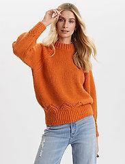 ODD MOLLY - Novelty Sweater - turtlenecks - sunset orange - 0
