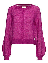 Cool With Wool Cardigan - FIREWORK FUCHSIA