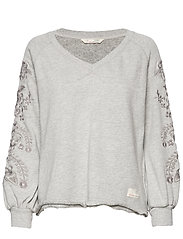 Sunday Snooze Sweater - LIGHT GREY MELANGE