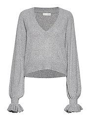 A Whole Lot Of Lovely Sweater - LIGHT GREY MELANGE