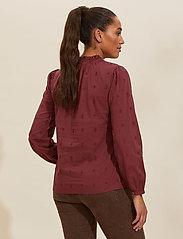 ODD MOLLY - Melinda Blouse - langærmede bluser - baked burgundy - 3