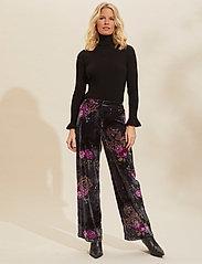 ODD MOLLY - Vera Pants - bukser med brede ben - asphalt - 0