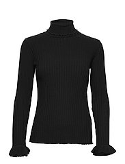 Liza Turtle L/S Top - ALMOST BLACK