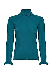 Liza Turtle L/S Top - DEEP TEAL