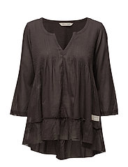 spread your wings blouse - BLACK LAVA