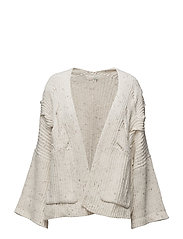 snow moon cardigan - LIGHT CHALK