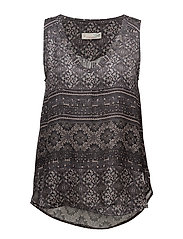 warm hearted s/l blouse - ALMOST BLACK