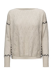 road runner sweater - CHALK