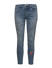 groupie cropped jean - MID BLUE