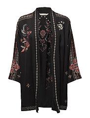 summer breeze kimono - ALMOST BLACK