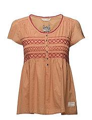 longing for s/s blouse - SUNNY ORANGE