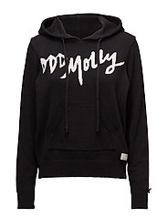 hey baby hood sweater - ALMOST BLACK