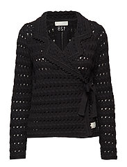 symmetry moves cardigan - BLACK